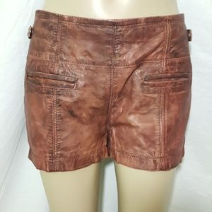 TRF Leather Collection Brown Shorts 2 Festival